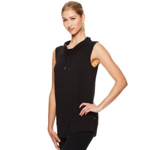 Gaiam Revelation Sleeveless Black Yoga Tunic